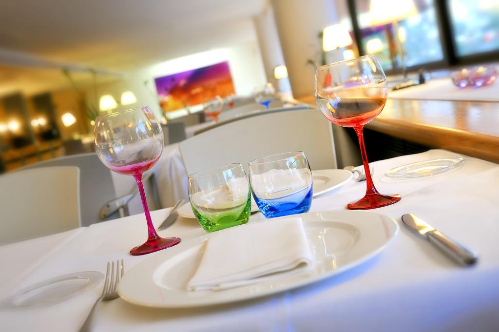 Mesa del restaurante SoMa