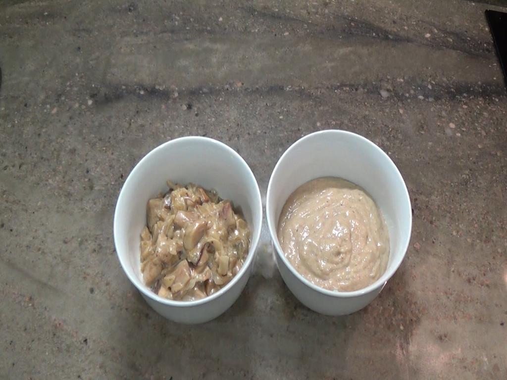 Las dos versiones de la salsa de boletus