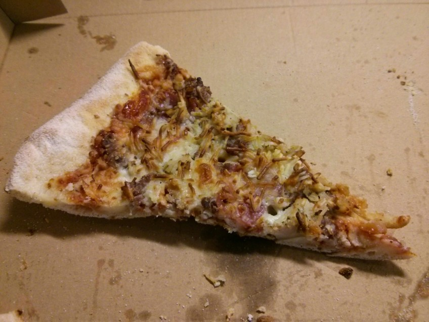 Calentar pizza de ayer