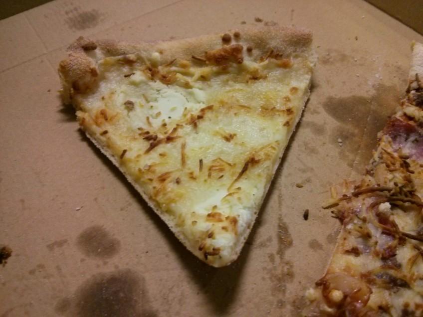 Recalentar pizza de ayer