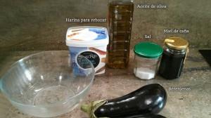 Ingredientes berenjenas con miel