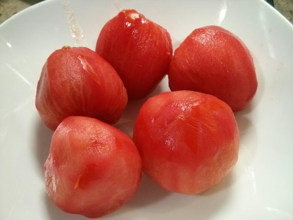 Pelamos los tomates