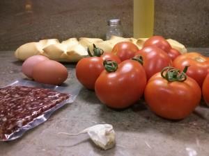 Ingredientes del salmorejo cordobés