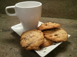 Cookies de chocolate y almendra
