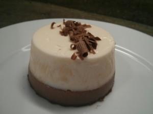 Panna cotta de nata y chocolate