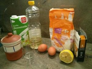 Ingredientes de las magdalenas caseras