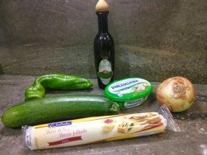 Ingredientes de la trenza de verduras