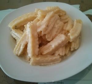 Ingredientes de la pasta a los 4 quesos
